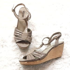 🆕 Kenneth Cole strappy wedge sandals size 7.5